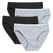 Ambrielle 4-pc. Cotton High Cut Panty