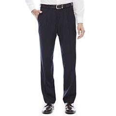 Steve Harvey® Navy Striped Pleated Suit Pants