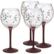Pfaltzgraff® Winterberry Set of 4 Wine Goblets