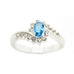 Sparkle Allure Blue Crystal Cocktail Ring