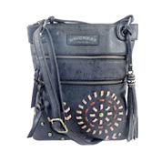 Union Bay Double Zip Crossbody Bag