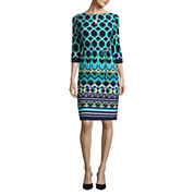 Liz Claiborne Elbow Sleeve Shift Dress