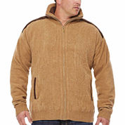 Steve Harvey Chenille Full-Zip Sweater- Big & Tall