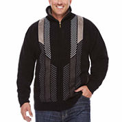 Steve Harvey Chenille Full-Zip Sweater- Big & Tall
