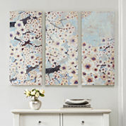 Madison Park Gleeful Bloom 3-pc. Canvas Art