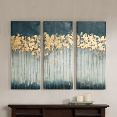 Madison Park Midnight Forest 3-pc. Canvas Art