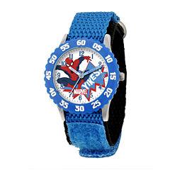 Marvel® Spiderman Kids Blue Nylon Strap Watch