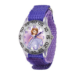 Disney Sofia the First Kids Purple Nylon Strap Watch
