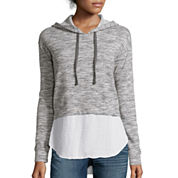 a.n.a® Long-Sleeve Layered-Look Hoodie Sweatshirt- Petite