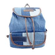 Union Bay Denim Colorblock Patched Messenger Bag