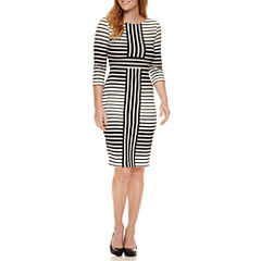 Danny & Nicole 3/4 Sleeve Sheath Dress