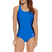 Speedo Illusion Splice Ultraback One Piece Swimsuit