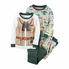 Carter's Boys 4-pc. Pant Pajama Set