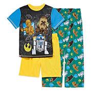 Boys 3-pc. Short Sleeve Star Wars Kids Pajama Set-Big Kid