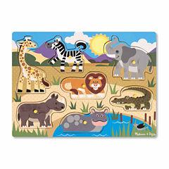 Melissa & Doug® Safari Peg Puzzle