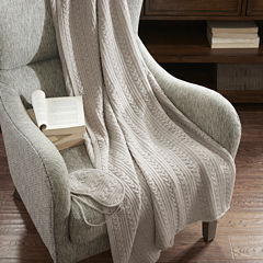 Madison Park Signature Cashmere Blend Travel Set Throw