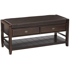 Stafford Entry Fabric Bench