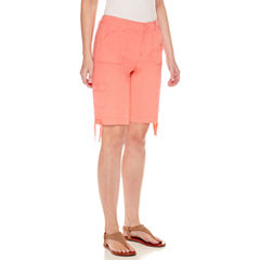 St. John's Bay Cargo Woven Bermuda Shorts