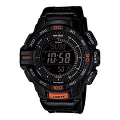 Casio® Pro Trek Tough Solar Triple Sensor Mens Aviator-Style Watch PRG270B-1CR
