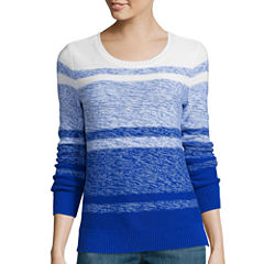 Liz Claiborne® Long-Sleeve Ombré Marled Sweater