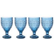 Fitz and Floyd® Trestle Vintage Set of 4 Goblet Glasses