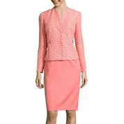 R&K Originals® Long-Sleeve Jacket with Solid Skirt Suit Set