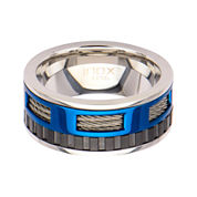 Mens Stainless Steel Multicolor Wedding Band