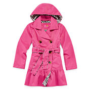 Pink Platinum Trench Coat - Toddler Girls 2t-4t