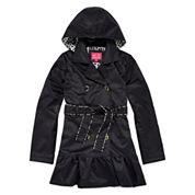 Pink Platinum Hooded Trench Coat - Preschool Girls 4-6x