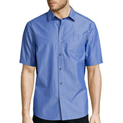 Claiborne® Short-Sleeve Chambray Woven Shirt