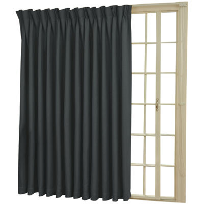 Eclipse® Back Tab/Pinch Pleat Thermal Blackout Patio Door Curtain Panel