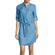 Levi's® High-Low 3/4-Sleeve Dress