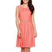 London Style Collection Sleeveless Fit-and-Flare Dress