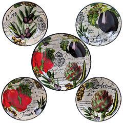Certified International Botanical Veggies 5-pc. Pasta Bowl Serving Set