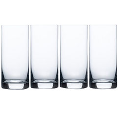 Mikasa® Laura Set of 4 Crystal Highball Glasses