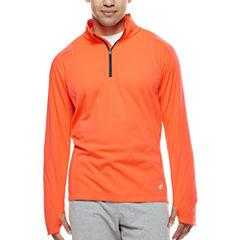 Asics® Long-Sleeve Mechanical Stretch Quarter-Zip Shirt