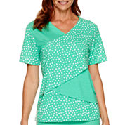 Alfred Dunner® Always In Style Short-Sleeve Print Tiered Top