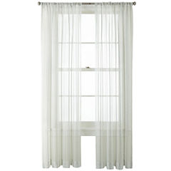 Liz Claiborne® Lauren Rod-Pocket Sheer Panel