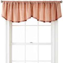 Liz Claiborne® Ainsley Rod-Pocket Rounded Ascot Valance