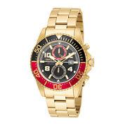 Invicta® Mens Gold Green Pro Diver Bracelet Watch