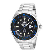 Invicta® Pro Diver Mens Silver and Black Bracelet Watch 17571