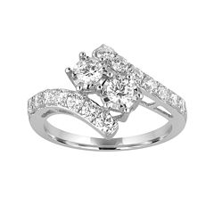 Two Forever™ 1/2 CT. T.W. Diamond Two-Stone 10K White Gold Ring