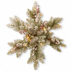 "National Tree Co. 18"" Dunhill Fir Snowflake With Led Lights Snowman Figurine"