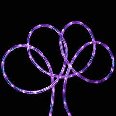 18' Purple LED Indoor/Outdoor Christmas Rope Lights with 2
