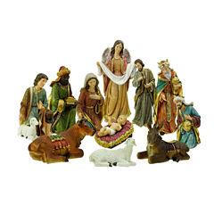 Holy Family & Three Kings 11 Piece Nativity Set