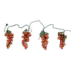 Tuscan Winery Purple Grape Novelty Light Set - 4 Clusters 100 Lights