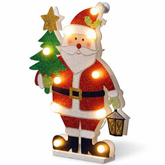 National Tree Co. Wood-Look Double Sided Santa Tabletop Decor