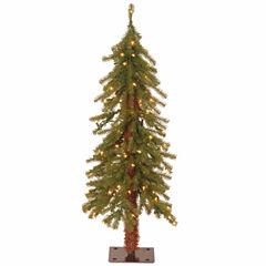 National Tree Co. 3 Foot Hickory Cedar Pre-Lit Christmas Tree