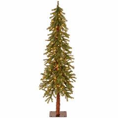 National Tree Co. 5 Foot Hickory Cedar Pre-Lit Christmas Tree