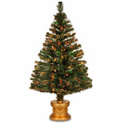 National Tree Co 4 Feet Evergreen Firework Pre-Lit Christmas Tree